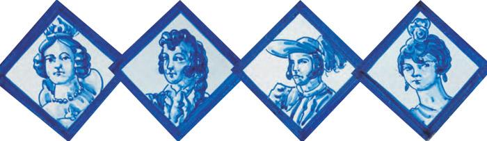 Decorative 7cm tiles