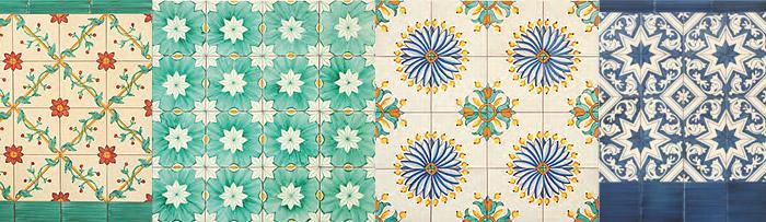 Motivos 4 azulejos